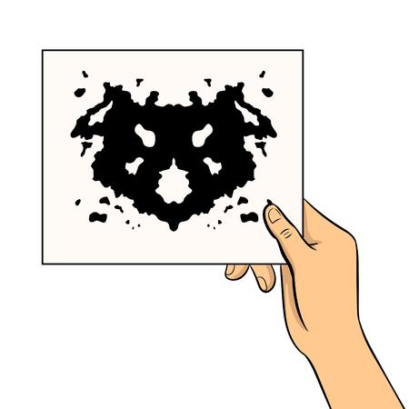 Rorschach test pop art vector illustration Stock Vector - 93269291