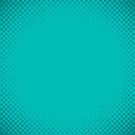 青緑ハーフトーンデザイン