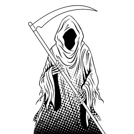 Grim reaper coloring book vector