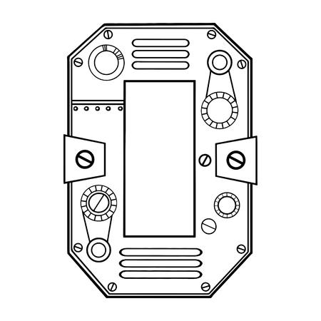 Mechanische Nummer 0 Gravur Vektor-Illustration Standard-Bild - 94571222