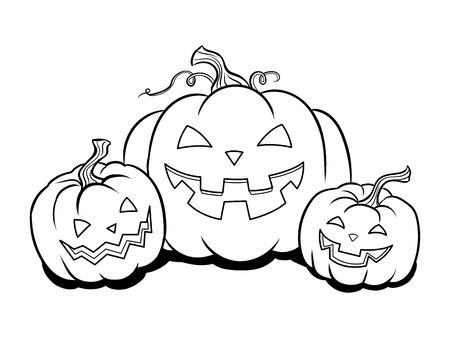 Halloween pumpkin coloring book vector