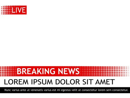 Breaking news design template pop art retro vector illustration. Isolated image on white background, comic book style imitation.