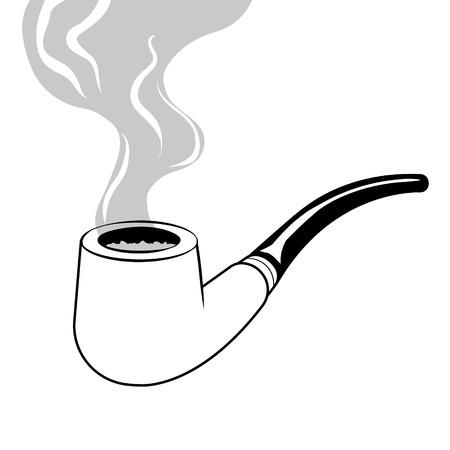 Smoking pipe coloring book vector Vectores