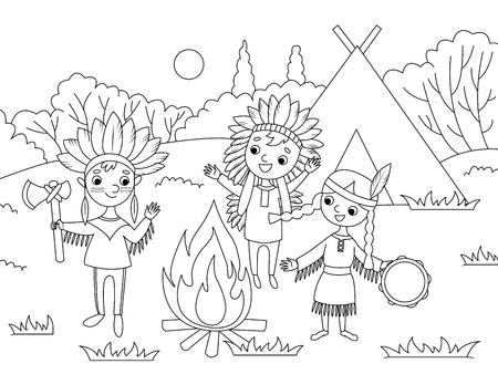 Cartoon children coloring vector illustration Stock Illustration - 96951313