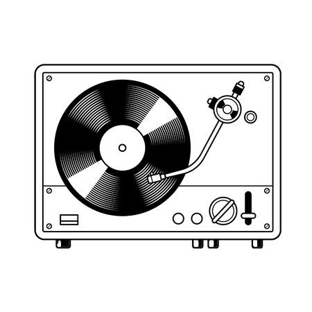 Tourne-disque livre à colorier en platine Banque d'images - 97145713