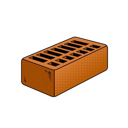 Brick pop art vector illustration