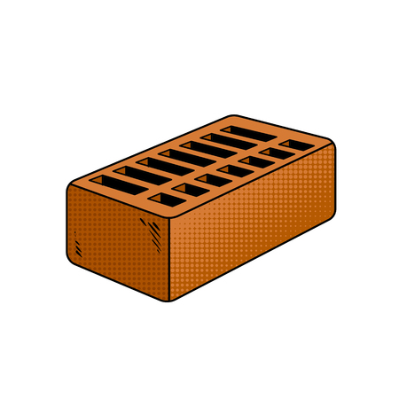 Brick pop art vector illustration Stock fotó - 97117836