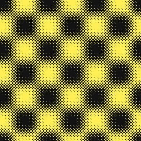Yellow black halftone background vector