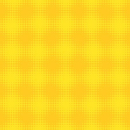 Yellow checkered abstract halftone design background retro vector illustration.