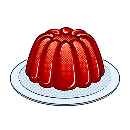 Jelly dessert pop art vector illustration design.
