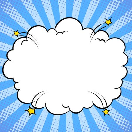 Bomba esplosione nuvola fumetti pop art vettore Vettoriali