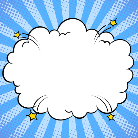Bomb explosion cloud comic book pop art vector