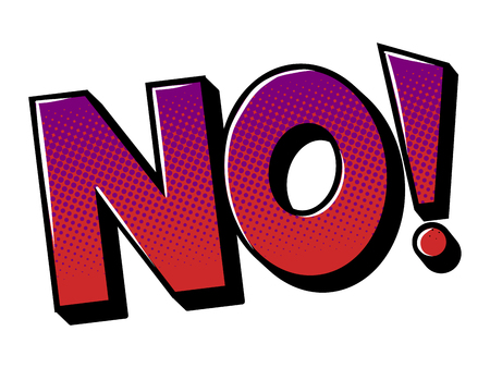 No word comic book pop art vector illustration