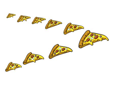 Pizza slice like bird pop art vector illustration  イラスト・ベクター素材