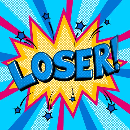 Loser word comic book pop art vector illustration Imagens - 102490606