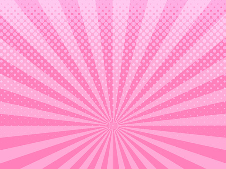 Abstract pink halftone design background retro vector illustration.