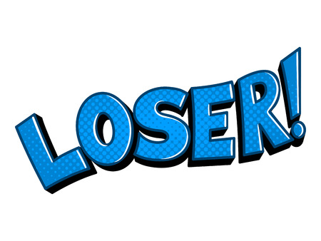 Loser word comic book pop art vector illustration