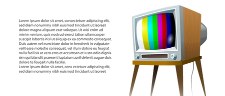 Television set vector illustration. Cartoon colorful isolated image on white background