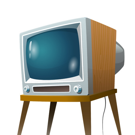 Television set vector illustration. Cartoon colorful isolated image on white background Reklamní fotografie - 124033318