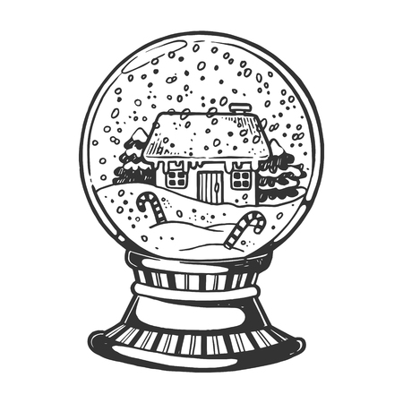 House glass sphere engraving vector illustration Stock Photo