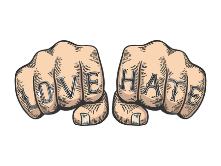 Epic fail words tattoo font color sketch engraving vector illustration. Scratch board style imitation. Black and white hand drawn image.