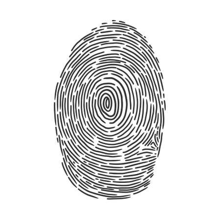 fingerprint sketch engraving vector illustration. T-shirt apparel print design. Scratch board imitation. Black and white hand drawn image.