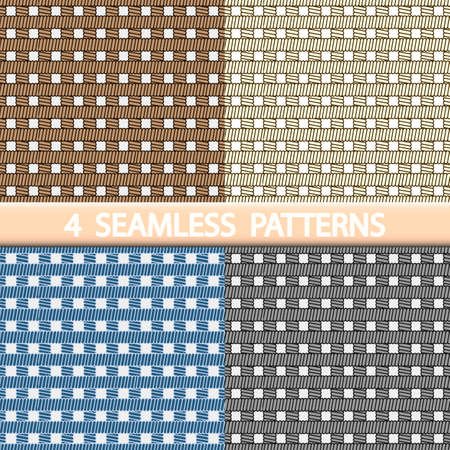 wattled: Set of 4 seamless patterns.