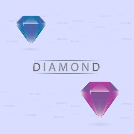 flaring: Beautiful diamonds blue and purple colors.