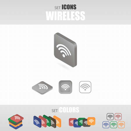 world receiver: Set of icons. Several types of icons. Different color options.