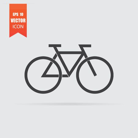 Bicycle weather icon in flat style isolated on grey background. For your design, Vector illustration.