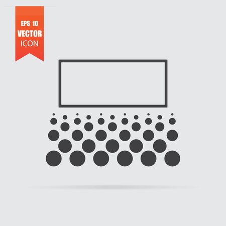 Cinema icon in flat style isolated on grey background. For your design, Vector illustration.