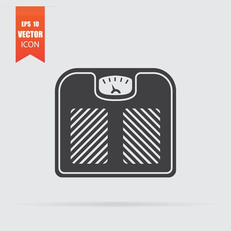 Scales icon in flat style isolated on grey background. For your design. Vector illustration. Zdjęcie Seryjne - 129960999