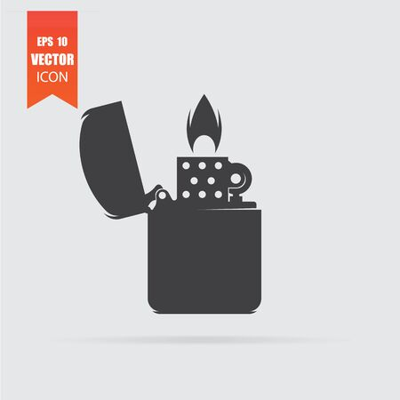 Lighter icon in flat style isolated on grey background. Ilustrace