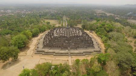 aerial view buddist temple Borobudur complex in Yogjakarta Java, indonesia. Stock fotó