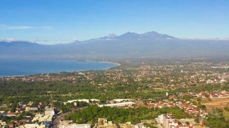 Residential area with dense development in Davao city. Davao del Sur, Philippines. Zdjęcie Seryjne