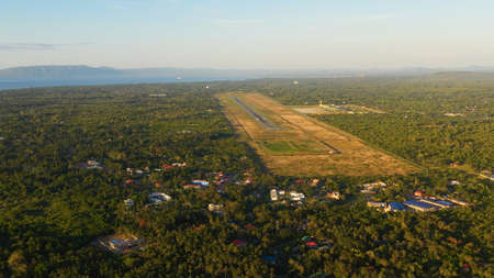 Aerial view of International airport on Panglao Island, Bohol, Philippines. Standard-Bild