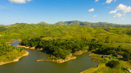 Mountain landscape with green hills. Bohol, Philippines. Summer landscape. Reklamní fotografie