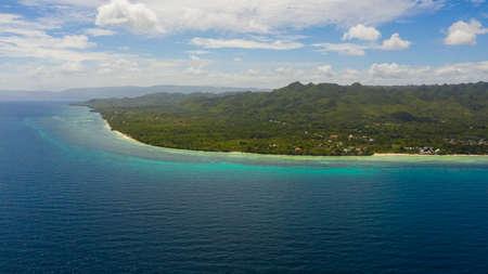 Beautiful tropical island with sand beach. Bohol, Anda, Philippines.