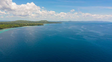 Panglao island with coral reef and blue sea. Bohol, Philippines. Stok Fotoğraf
