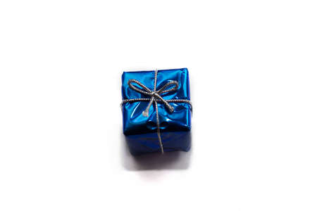 gift box isolated on white background. top view Stock Photo
