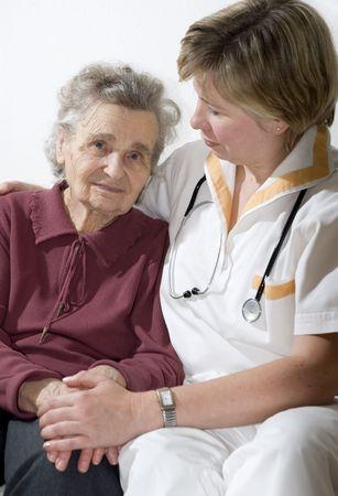 An elderly women by a doctor Stock Photo - 1952570