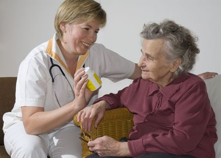 An elderly women by a doctor Stock Photo - 1952589