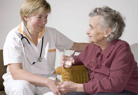 An elderly women by a doctor Stock Photo - 1952591