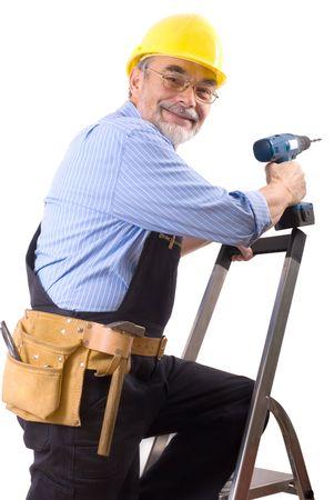journeyman technician: happy repairman