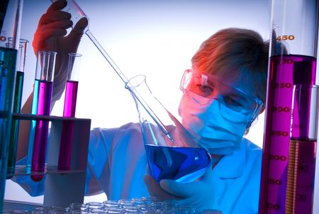 Working in the laboratory photo