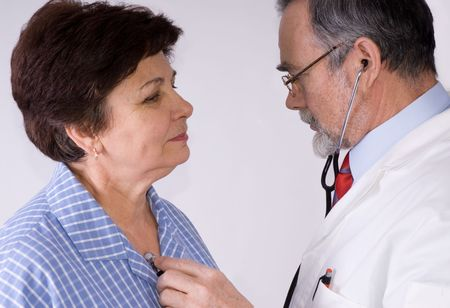 An elderly women being examined by a doctor Stock Photo - 3774943