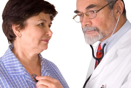 An elderly women being examined by a doctor Stock Photo - 3774944