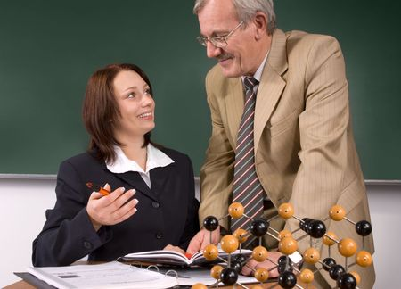 University professor giving a lecture Stock Photo - 3803374