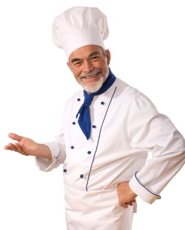 culinary chef: An attractive chef