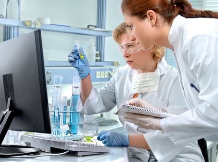 scientists working at the laboratory Stock Photo - 4994725
